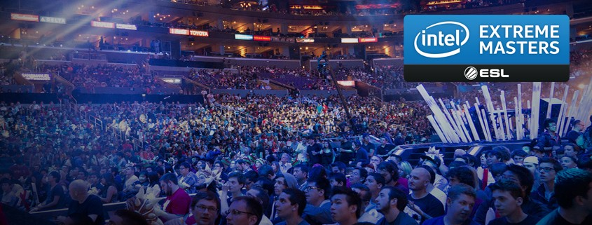 Captivated crowd at Intel Extreme Masters tournament.