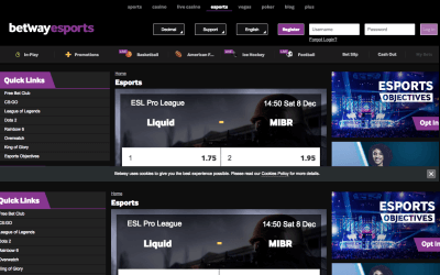 Betway Esports Betting Screenshot